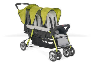 Foundations Trio Sport 3-Child Stroller Lime - 4130299 -  Foundations Strollers - Nurzery.com
