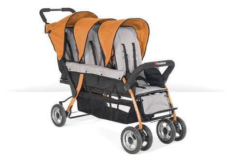 Foundations Trio Sport 3-child Stroller Orange - 4130309 -  Foundations Strollers - Nurzery.com