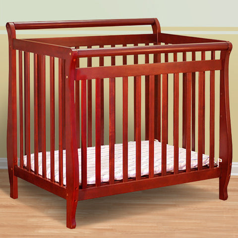 AFG Athena Amy Mini Convertible Crib - 8018 - Cherry AFG Furniture International All Cribs - Nurzery.com - 1