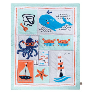 Trend Lab® - Ocean Pals - 3 Piece Crib Bedding Set