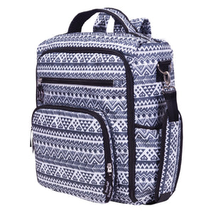 Trend Lab® -  Aztec Black and White Convertible Backpack Diaper Bag