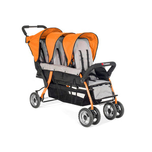 Foundations Trio Sport 3-Child Stroller - Orange/Black Foundations Strollers - Nurzery.com - 3
