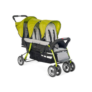 Foundations Trio Sport 3-Child Stroller - Lime/Black Foundations Strollers - Nurzery.com - 2