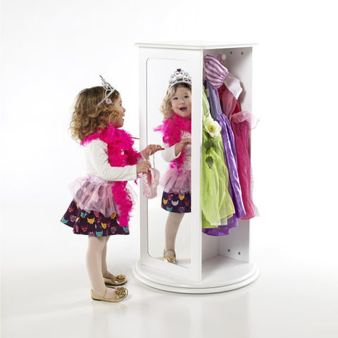 Guidecraft Rotating Dress Up Storage White - G99300 - Default Title Guidecraft Toys - Nurzery.com