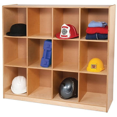 Whitney Brothers 12 Cubby Backpack Storage Cabinet WB9982 -  Whitney Bros Storage cabinet - Nurzery.com