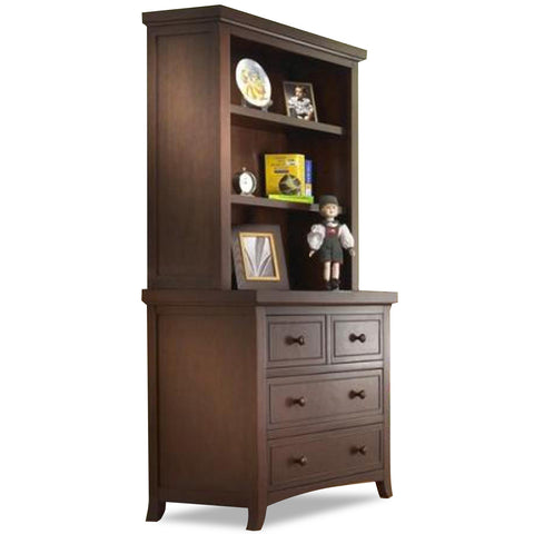 Sorelle Alex 3 Drawer Chest Hutch 1530 - Mocha Cafe Sorelle Dresser - Nurzery.com