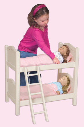 Guidecraft Doll Bunk Bed- White - G98127 - Default Title Guidecraft Toys - Nurzery.com