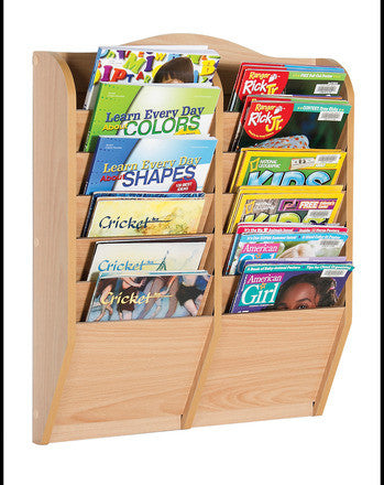 Guidecraft Magazine Rack 12 Section - G6321 - Default Title Guidecraft Toys - Nurzery.com