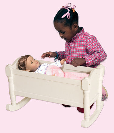 Guidecraft Doll Cradle- White - G98128 - Default Title Guidecraft Toys - Nurzery.com