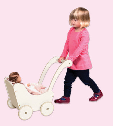 Guidecraft Doll Buggy White - G98124 - Default Title Guidecraft Toys - Nurzery.com