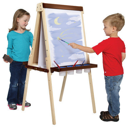 Guidecraft Wooden Floor Easel - G51030 - Default Title Guidecraft Toys - Nurzery.com