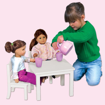 Guidecraft Doll Table and Chair Set White - G98122 - Default Title Guidecraft Toys - Nurzery.com