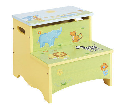 Guidecraft Savanna Smiles Storage Step-Up - G86806 - Default Title Guidecraft Toys - Nurzery.com