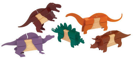 Guidecraft Block Mates Dinosaurs - G7602 - Default Title Guidecraft Toys - Nurzery.com