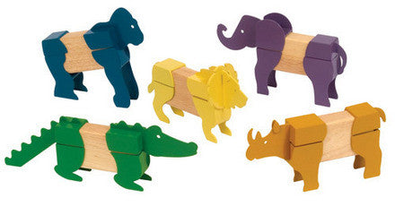 Guidecraft Block Mates Safari Animals - G7603 - Default Title Guidecraft Toys - Nurzery.com