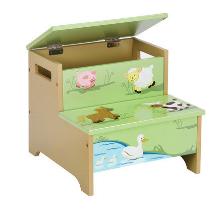 Guidecraft Farm Friends Storage Step-Up - G86706 - Default Title Guidecraft Toys - Nurzery.com
