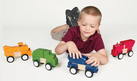 Guidecraft Block Mates Construc Vehicles - G7605 - Default Title Guidecraft Toys - Nurzery.com