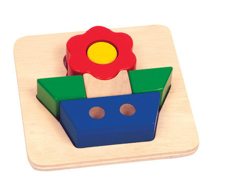 Guidecraft Primary Puzzle - Flower - G2020 - Default Title Guidecraft Toys - Nurzery.com