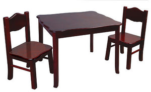 Guidecraft Classic Espresso Table & Chair - G86202 - Default Title Guidecraft Toys - Nurzery.com