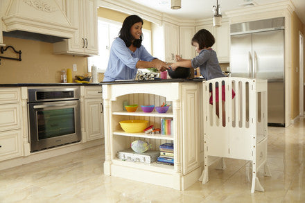 Guidecraft Contemporary Kitchen Helper: White - G97329 - Default Title Guidecraft Toys - Nurzery.com