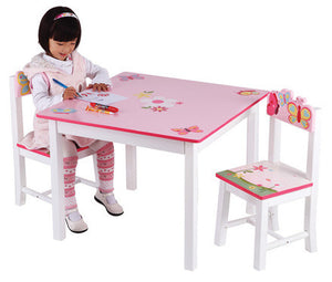 Guidecraft Butterfly Buddies Table & Chairs Set - G86602 - Default Title Guidecraft Toys - Nurzery.com
