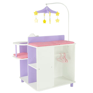 "Teamson Kids - Little Princess 18"" Doll Furniture - Baby Changing Station with Storage-TD-0203A"