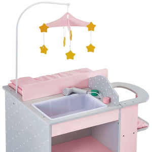 Olivia's Little World - Polka Dots Princess Baby Doll Changing Station - Gray