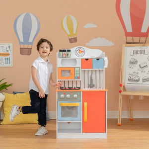 Teamson Kids - Little Chef Florence Classic Play Kitchen - Coral Red/Twilight