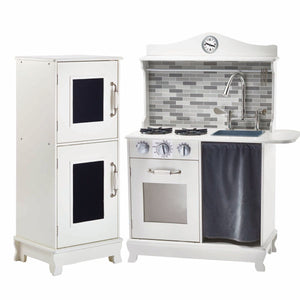 Teamson Kids - Little Chef Provence Retro Play Kitchen - White
