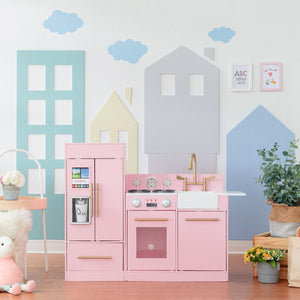 Teamson Kids - Little Chef Chelsea Modern Play Kitchen (Pink) - TD-12302P