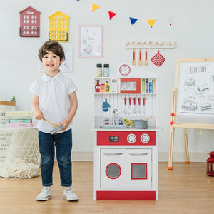 Teamson Kids - Little Chef Madrid Classic Play Kitchen - Red/White