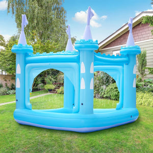 Teamson Kids - Water Fun Castle Inflatable Water Play Set with Sprinklers - Blue
