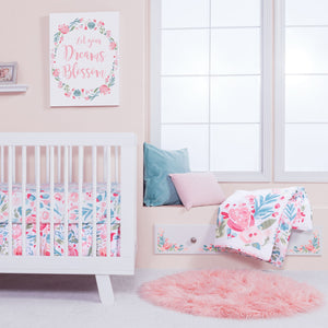 Trend Lab® - Painterly Floral - 3 Piece Crib Bedding Set