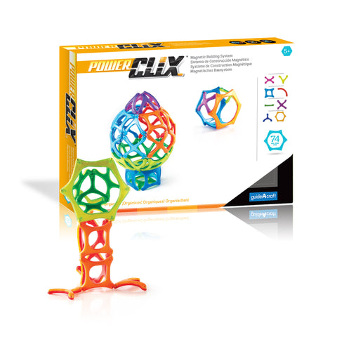 Guidecraft PowerClix® Organics 74 Piece Set - G9432 - Default Title Guidecraft Toys - Nurzery.com