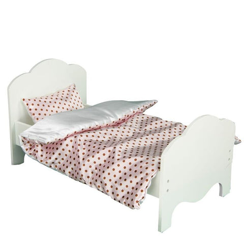 "Teamson Kids - Little Princess 18"" Doll Furniture - Single Bed & Bedding Set -Polka Dots-TD-11929-1A -  Teamson Kids Doll Accessories - Nurzery.com - 1"