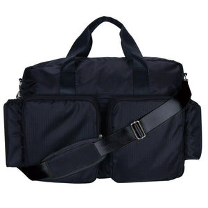 Trend Lab® -  Black Deluxe Duffle Diaper Bag