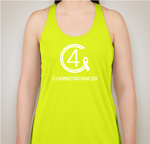 Connect4Cancer SuperGirl Tank tops neon green tank top - SOLD OUT