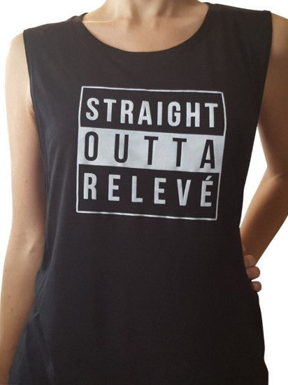 Straight Outta Releve Muscle Tank - simplyWORKOUT