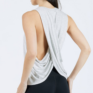 Joah Brown Exhale Tank Gray