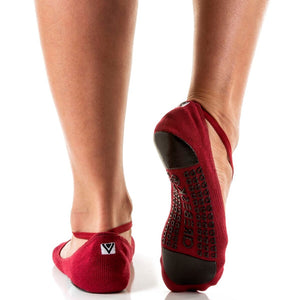 Arebesk Muse Grip Sock Burgandy