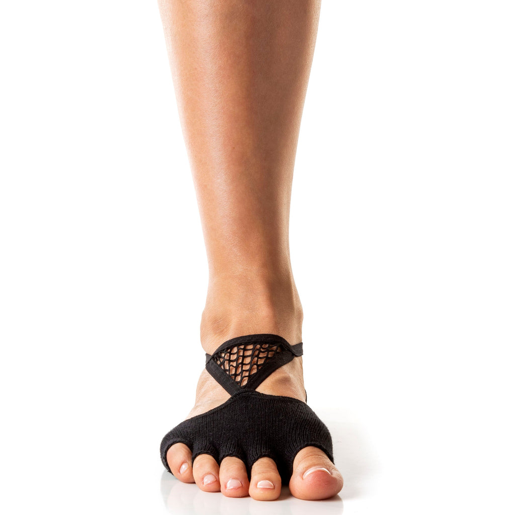 Arebesk Muse Open Toe Grip Sock Black