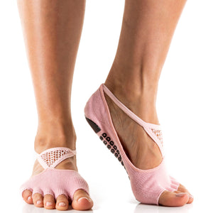 Arebesk Muse Open Toe Grip Sock Pink