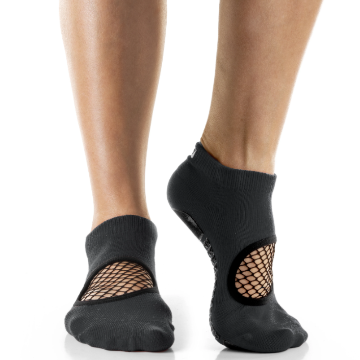 Arebesk Arebesk Fishnet Grip Socks - Charcoal Black