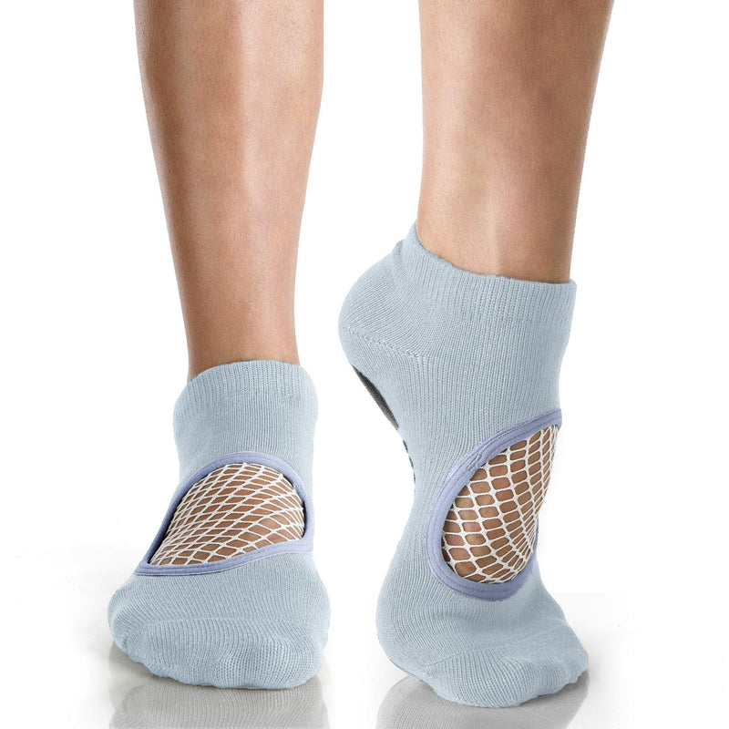 Arebesk Arebesk Fishnet Grip Socks - Light Blue White