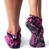 Arebesk Fishnet Grip Socks - Pink Snake