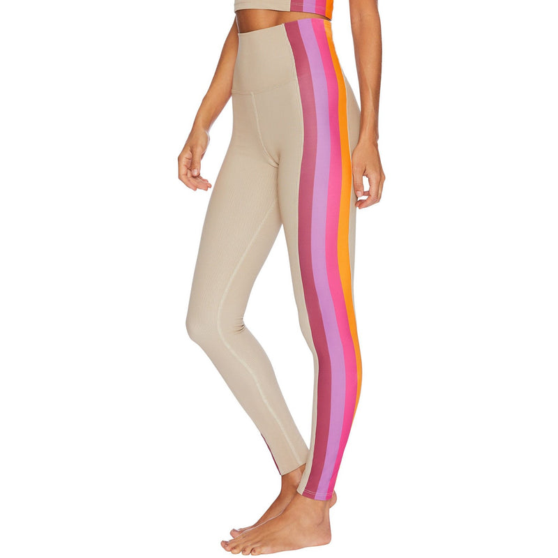 Beach Riot Megan Legging - Taupe Sunset Stripe