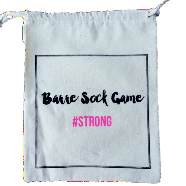 Barre Sock Bag - Barre Sock Game #STRONG - simplyWORKOUT