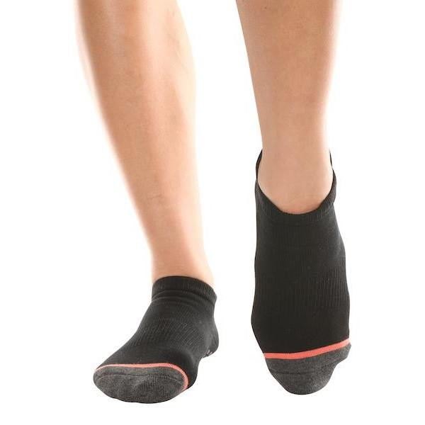 Barre Socks Believe in Yourself Black Coral Stripe