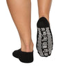 Barre Socks Go With the Flow Criss Cross Black White