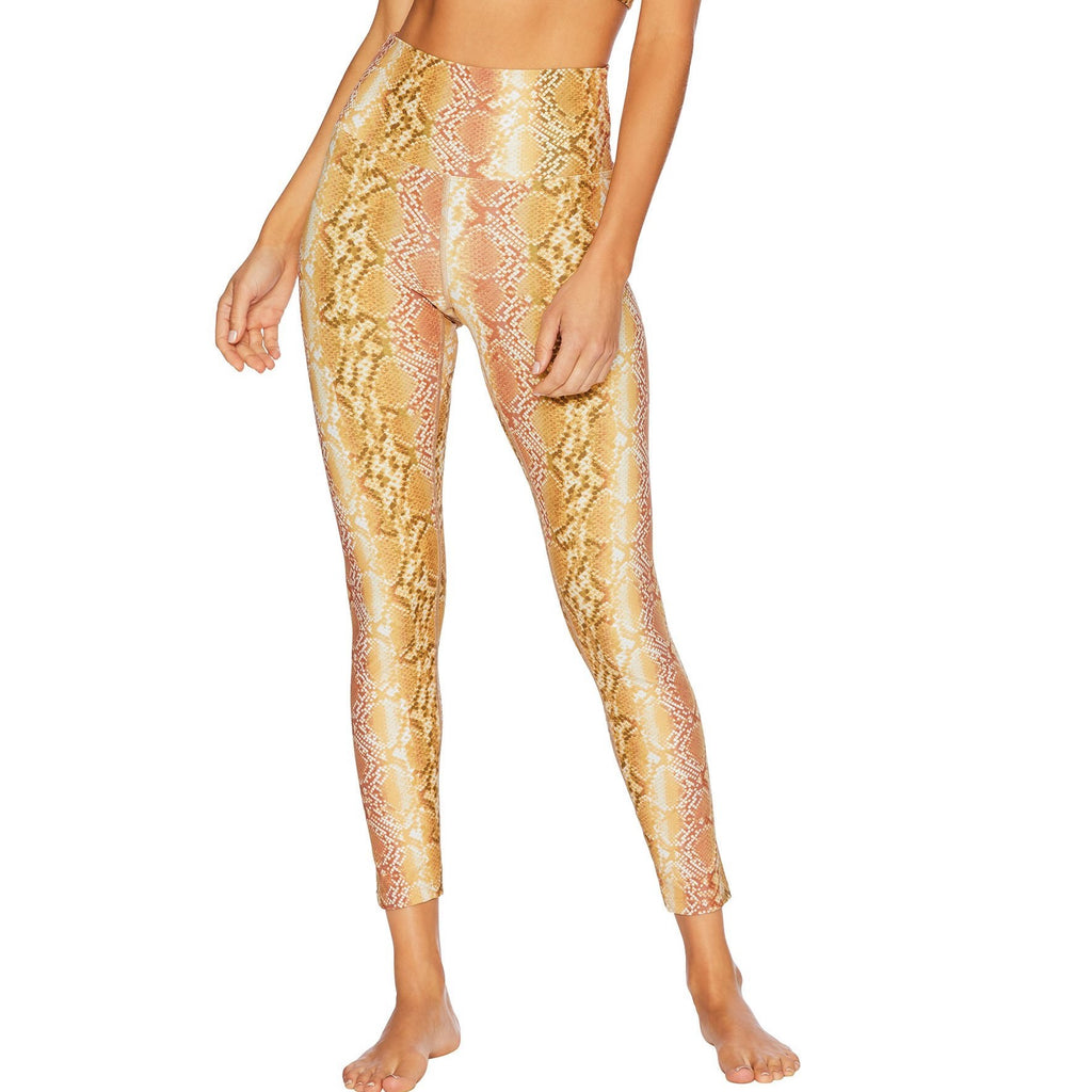 Beach Riot Piper Legging Golden Snakeskin